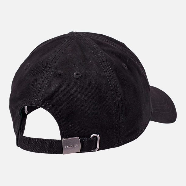 Alternate view of Lacoste Big Croc Gabardine Strapback Hat in Black/Green