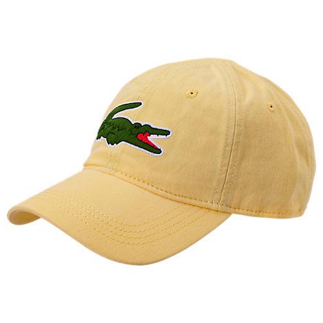 Lacoste LACOSTE BIG CROC GABARDINE STRAPBACK HAT