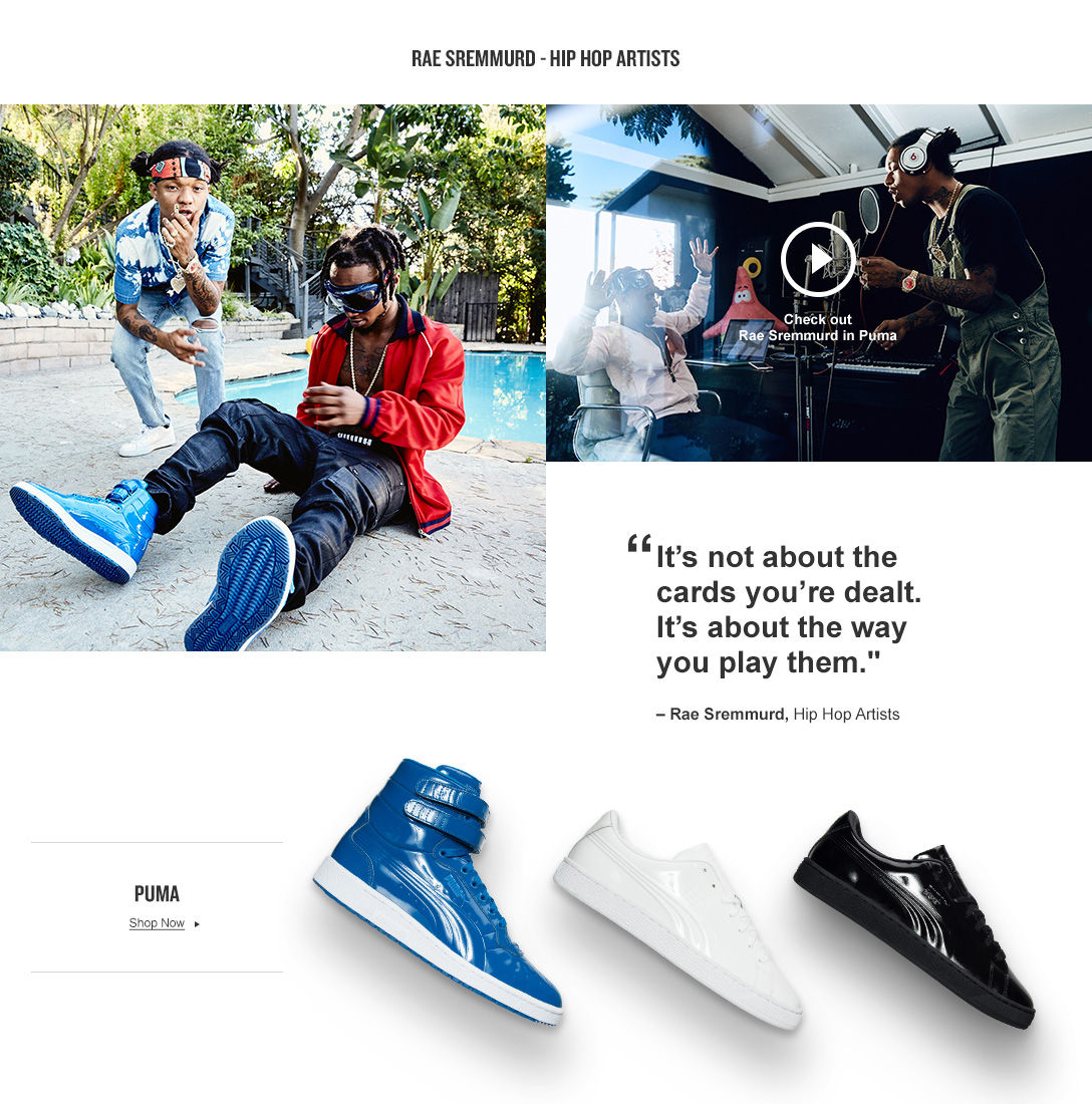 Rae Sremmurd Hip Hop Arists for Puma