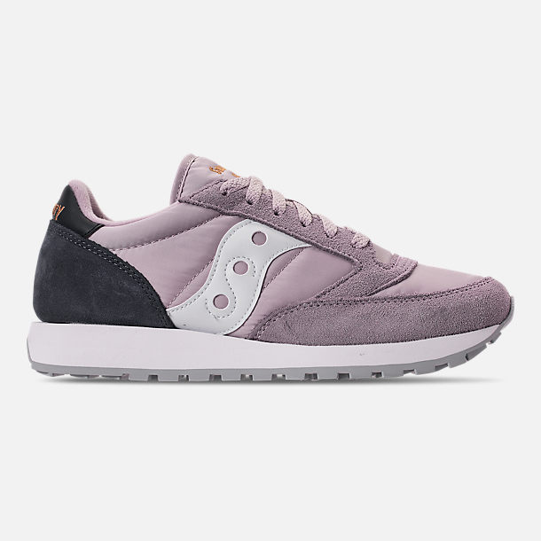 Right view of Men's Saucony Jazz Original Casual Shoes in Grey/Navy