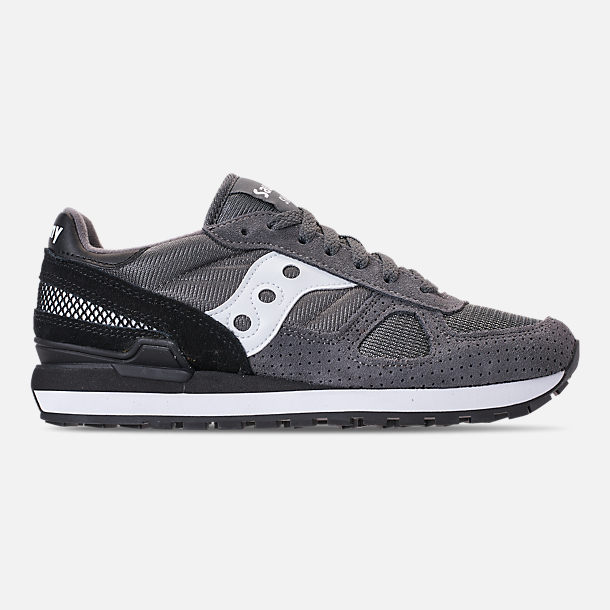 Right view of Men s Saucony Shadow Original Casual Shoes in Grey Black 0d6ff7371