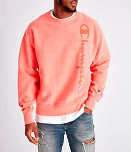 Men's Champion Yarn Dyed Rib Trim Crewneck Sweatshirt