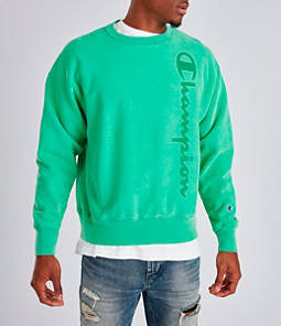 Men's Champion Yarn Dyed Rib Trim Crewneck Sweatshirt