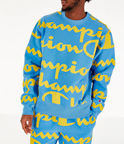 Men's Champion Reverse Weave Allover Print Crewneck Sweatshirt