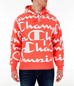 Men's Champion Reverse Weave Allover Print Large Script Hoodie