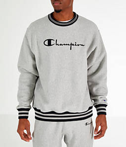 Men's Champion Yard Dyed Ribbed Crewneck Sweatshirt