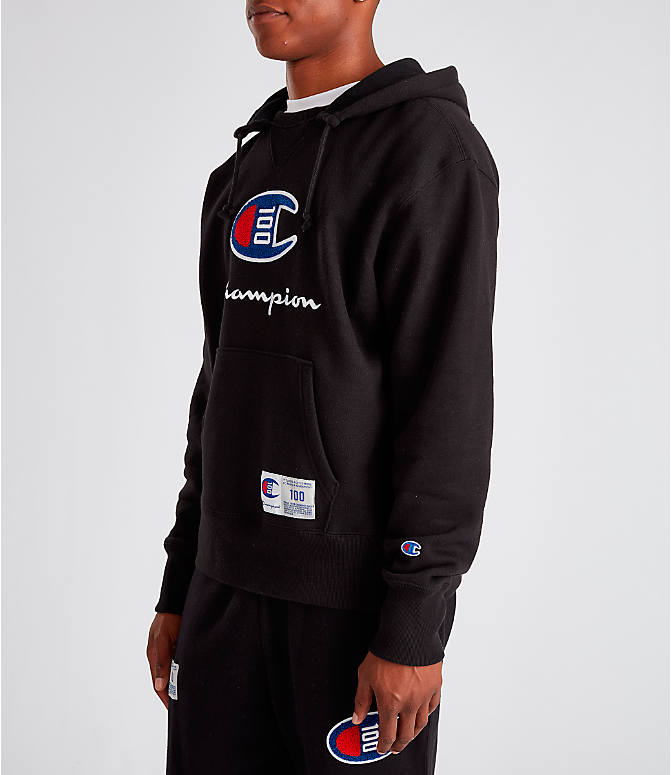 Men's Champion Century Collection Felt Logo Hoodie by Champion