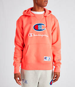 Men's Champion Century Collection Felt Logo Hoodie