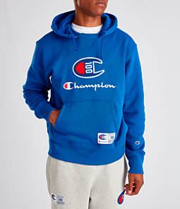 Men's Champion Century Collection Felt Logo Hoodie
