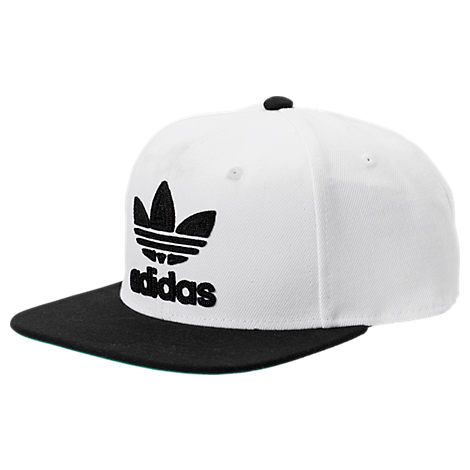 541185e07ff ... discount code for adidas originals mens originals trefoil chain  snapback hat white bbe3a f76ed