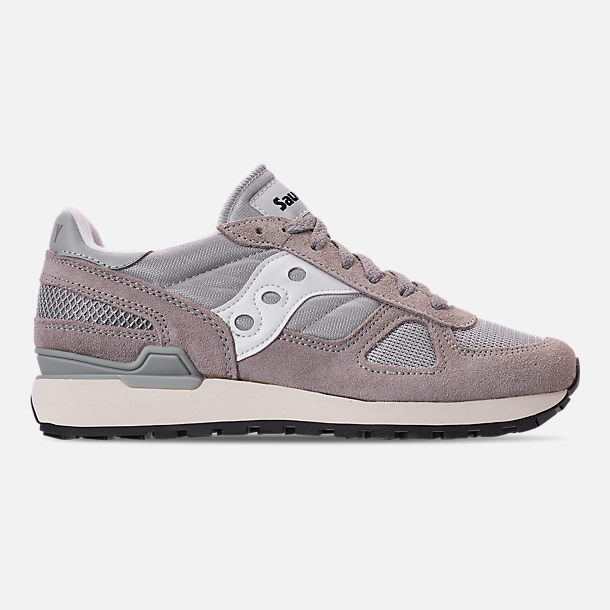 Right view of Men's Saucony Shadow Original Vintage Casual Shoes in Grey/White