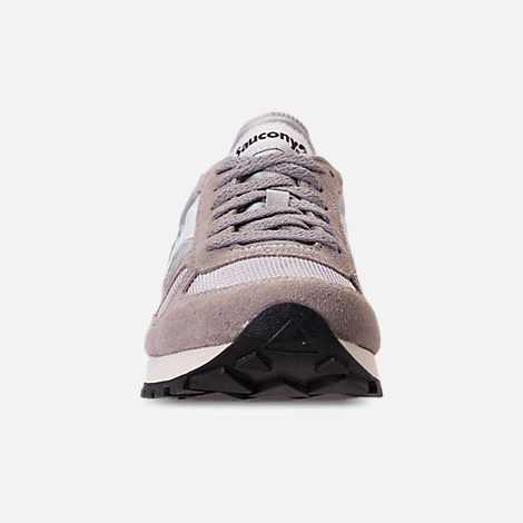 Front view of Men's Saucony Shadow Original Vintage Casual Shoes in Grey/White