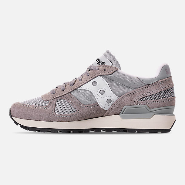Left view of Men's Saucony Shadow Original Vintage Casual Shoes in Grey/White