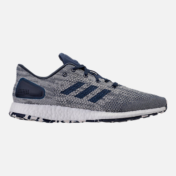 Right view of Men's adidas PureBOOST DPR Running Shoes in Night Indigo/Chalk White