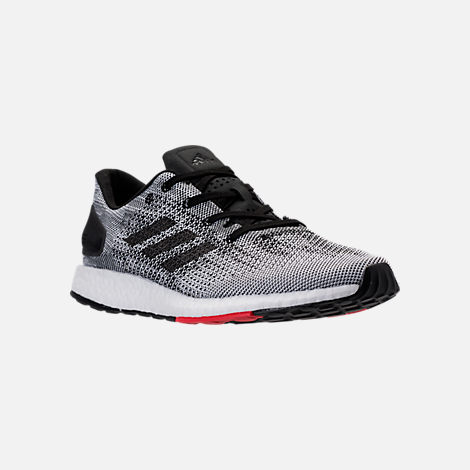 Three Quarter view of Men's adidas PureBOOST DPR Running Shoes in Core  Black/Footwear White