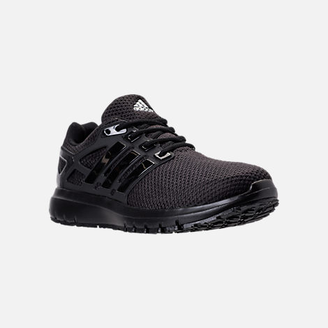 Three Quarter view of Men's adidas Energy Cloud Running Shoes in Core Black