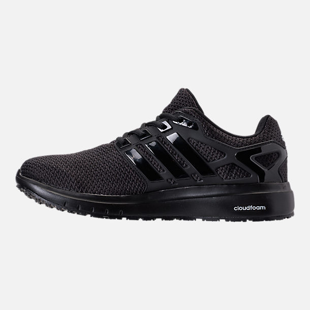 Left view of Men's adidas Energy Cloud Running Shoes in Core Black