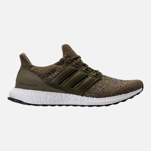 Right view of Men's adidas UltraBOOST Running Shoes in Trace Olive/Trace Khaki