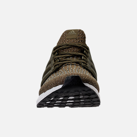 Front view of Men's adidas UltraBOOST Running Shoes in Trace Olive/Trace Khaki
