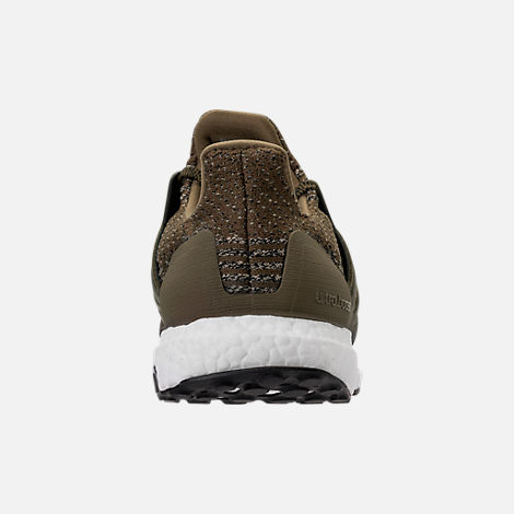 Back view of Men's adidas UltraBOOST Running Shoes in Trace Olive/Trace Khaki
