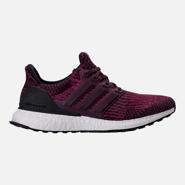 Right view of Women's adidas UltraBOOST Running Shoes in Red Night/Mystery Ruby/Core Black