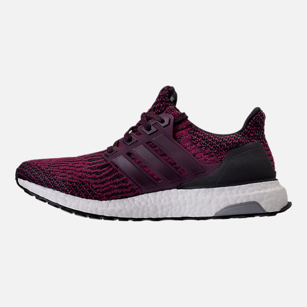 Left view of Women's adidas UltraBOOST Running Shoes in Red Night/Mystery Ruby/Core Black