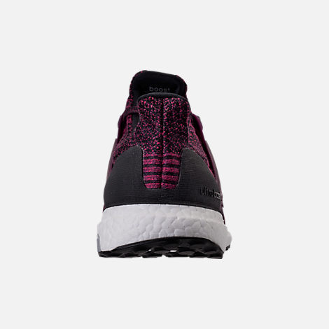 Back view of Women's adidas UltraBOOST Running Shoes in Red Night/Mystery Ruby/Core Black