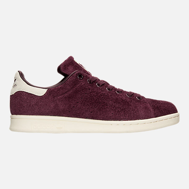 Right view of Men's adidas Stan Smith Bounce Suede Casual Shoes in Maroon