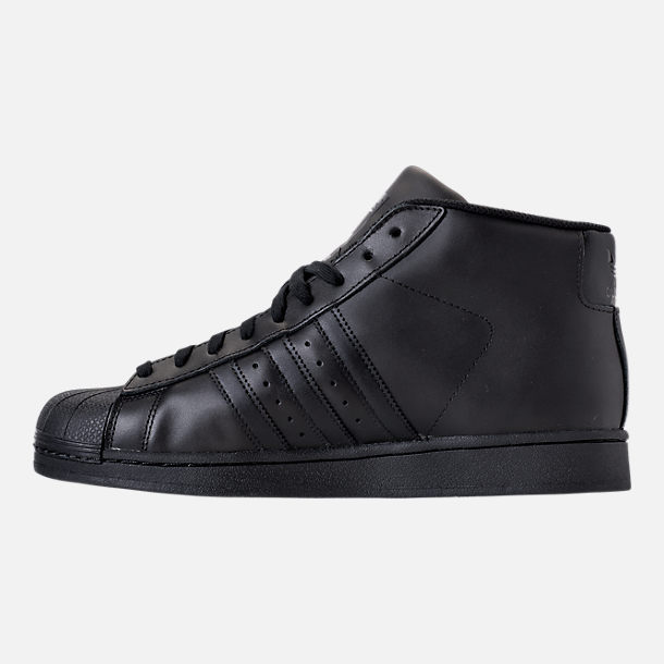 Left view of Men's adidas Originals Pro Model Casual Shoes in BLK