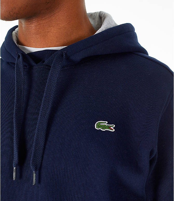 Detail 1 view of Men's Lacoste Tennis Hoodie in Navy