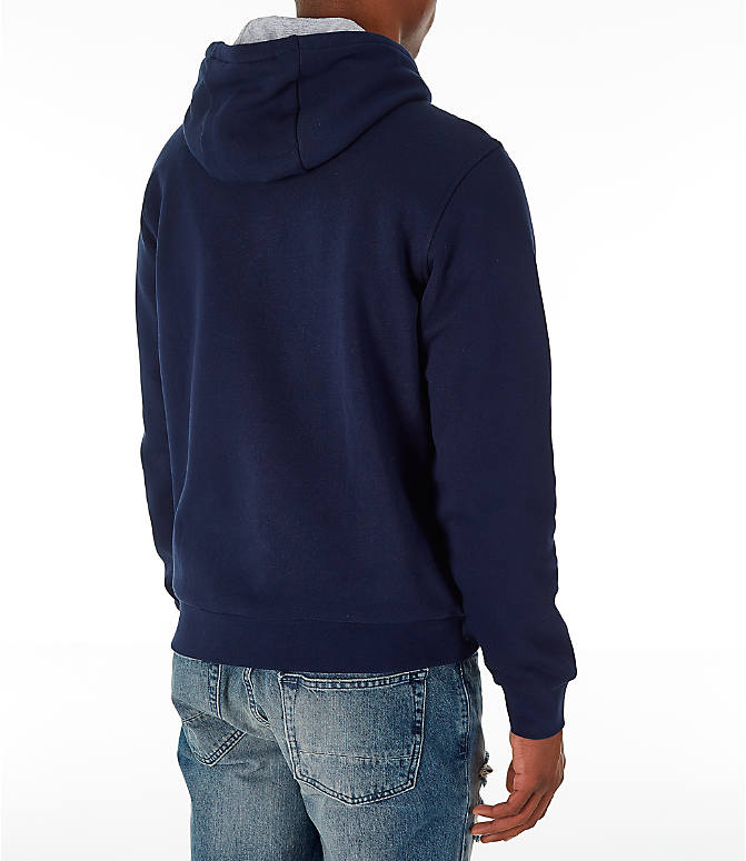 Back Right view of Men's Lacoste Tennis Hoodie in Navy