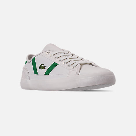 8070ff6ce Three Quarter view of Men s Lacoste Sideline Leather and Suede Casual Shoes  in Green White