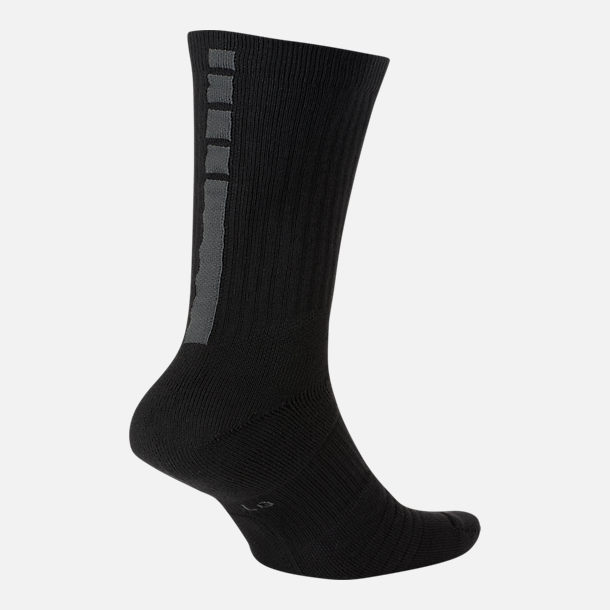 Front view of Unisex Nike NBA MVP Elite Crew Basketball Socks in Black