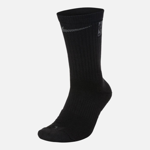 Back view of Unisex Nike NBA MVP Elite Crew Basketball Socks in Black