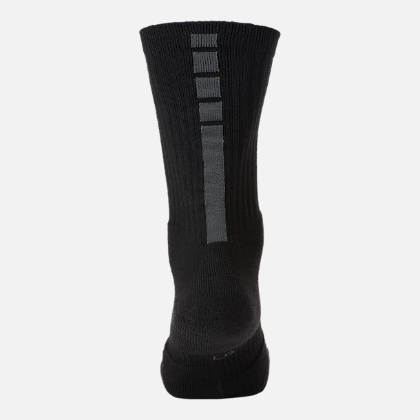 Alternate view of Unisex Nike NBA MVP Elite Crew Basketball Socks in Black