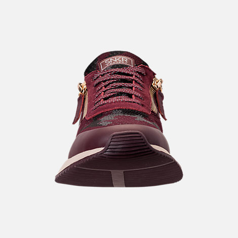 Front view of Men's SNKR Project Rodeo 2.0 Casual Shoes in Burgundy Camo/White