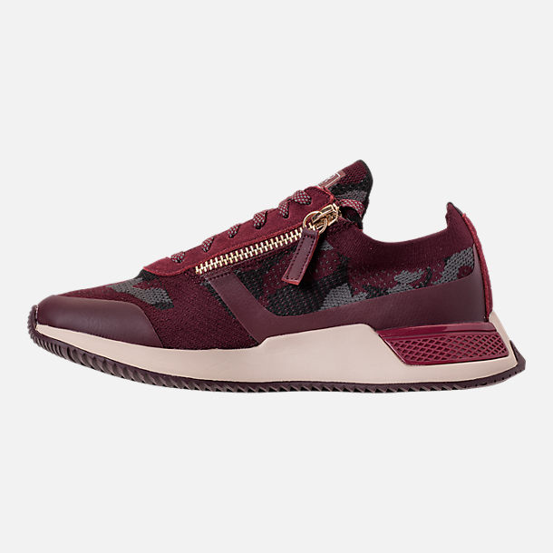 Left view of Men's SNKR Project Rodeo 2.0 Casual Shoes in Burgundy Camo/White