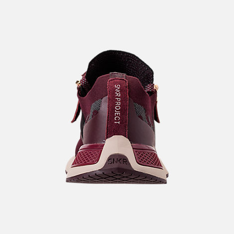 Back view of Men's SNKR Project Rodeo 2.0 Casual Shoes in Burgundy Camo/White