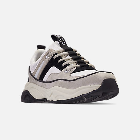 Three Quarter view of Men's SNKR Project Union Casual Shoes in Off White/Black