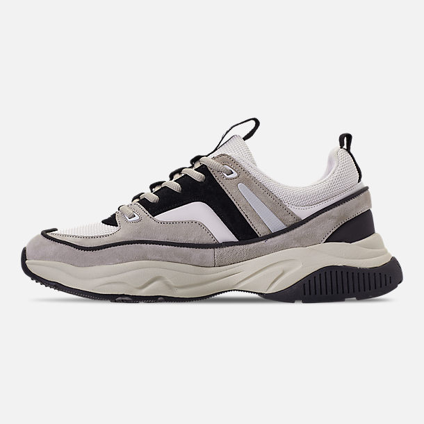 Left view of Men's SNKR Project Union Casual Shoes in Off White/Black