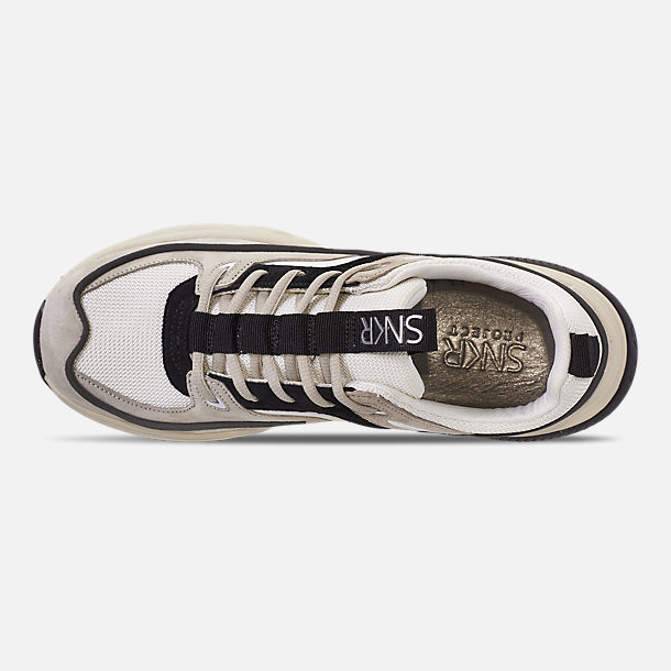 Top view of Men's SNKR Project Union Casual Shoes in Off White/Black