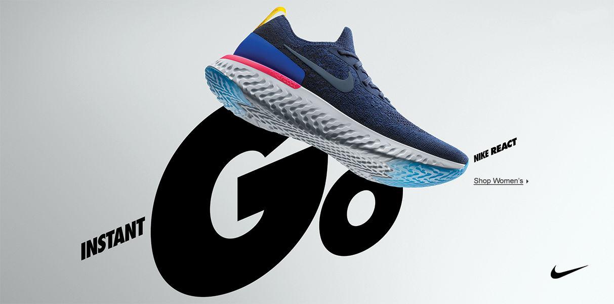 Women's Nike Epic React. Shop Now.