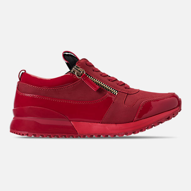 Right view of Men's SNKR Project Rodeo Casual Shoes in Red Mono