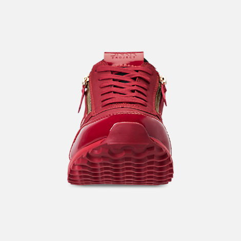 Front view of Men's SNKR Project Rodeo Casual Shoes in Red Mono