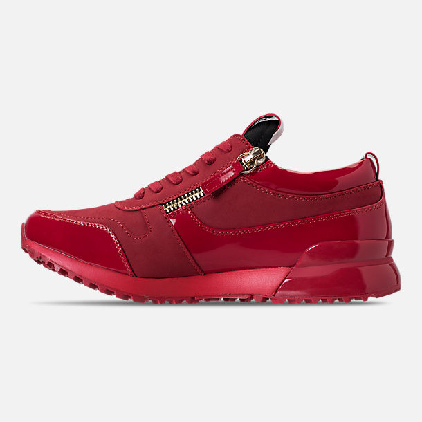 Left view of Men's SNKR Project Rodeo Casual Shoes in Red Mono
