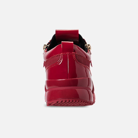 Back view of Men's SNKR Project Rodeo Casual Shoes in Red Mono