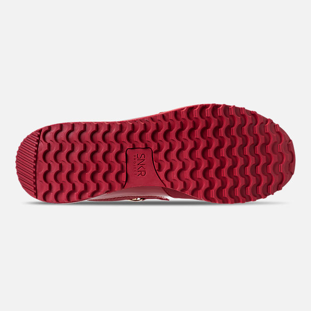 Bottom view of Men's SNKR Project Rodeo Casual Shoes in Red Mono