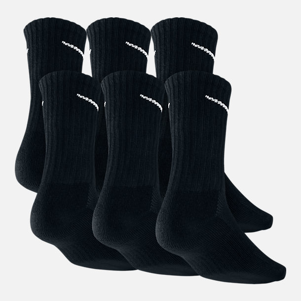 9aa003cd0 Back view of Nike Dri-FIT 6-Pack Crew Socks in Black