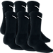 Back view of Nike Dri-FIT 6-Pack Crew Socks in Black