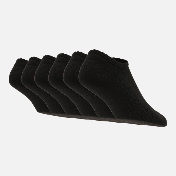 Alternate view of Nike Dri-FIT 6-Pack No Show Socks in Black